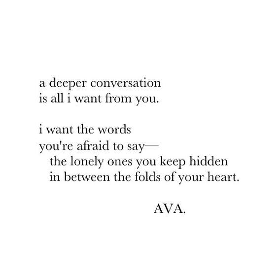a deeper conversation